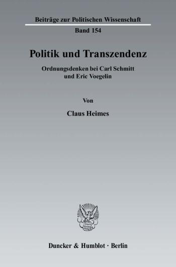 Cover: Politik und Transzendenz