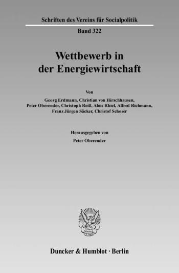 Cover: Wettbewerb in der Energiewirtschaft