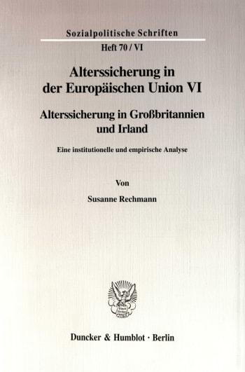 Cover: Alterssicherung in der Europäischen Union VI
