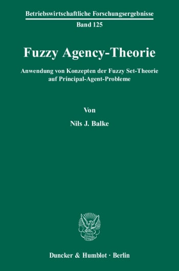 Cover: Fuzzy Agency-Theorie