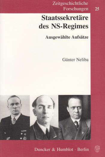 Cover: Staatssekretäre des NS-Regimes