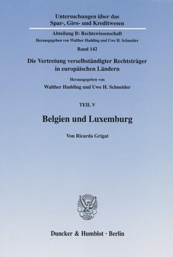 Cover: Belgien und Luxemburg