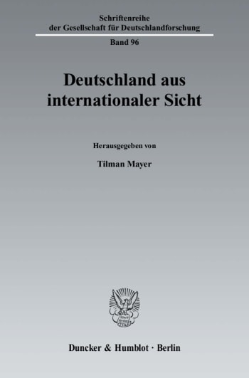 Cover: Deutschland aus internationaler Sicht