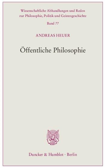 Cover: Öffentliche Philosophie