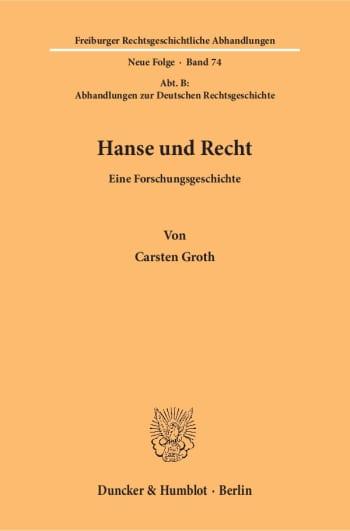 Cover: Hanse und Recht