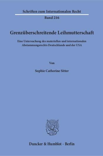 Cover: Grenzüberschreitende Leihmutterschaft