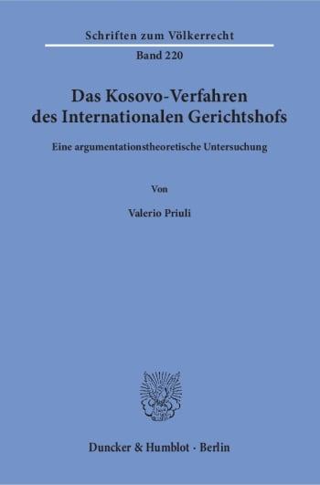 Cover: Das Kosovo-Verfahren des Internationalen Gerichtshofs