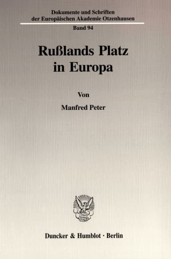 Cover: Rußlands Platz in Europa