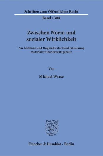 Cover: Zwischen Norm und sozialer Wirklichkeit