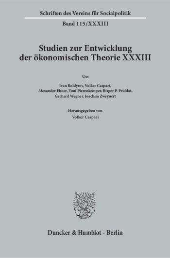 Cover: Kontinuität und Wandel in der Institutionenökonomie