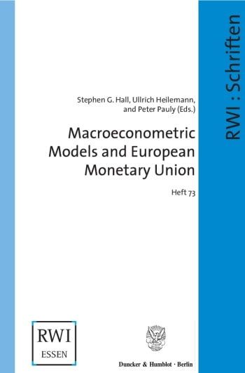 Cover: Macroeconometric Models and European Monetary Union