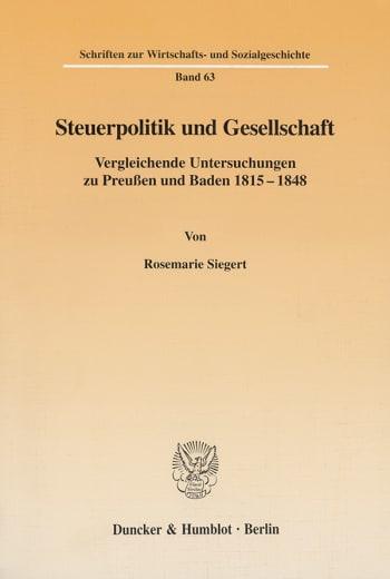Cover: Steuerpolitik und Gesellschaft