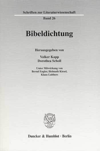 Cover: Bibeldichtung