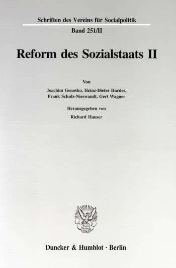 Cover: Reform des Sozialstaats II