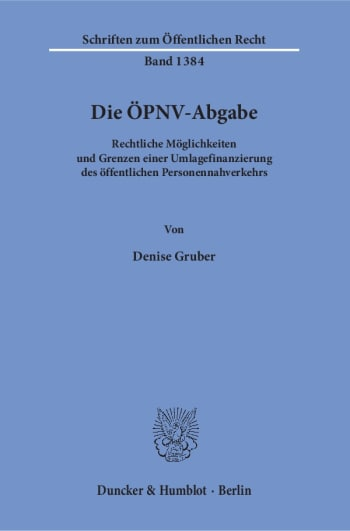 Cover: Die ÖPNV-Abgabe