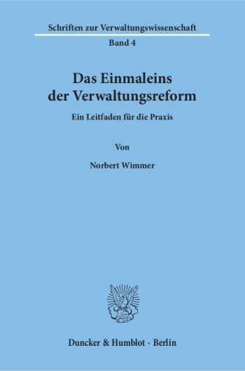 Cover: Das Einmaleins der Verwaltungsreform