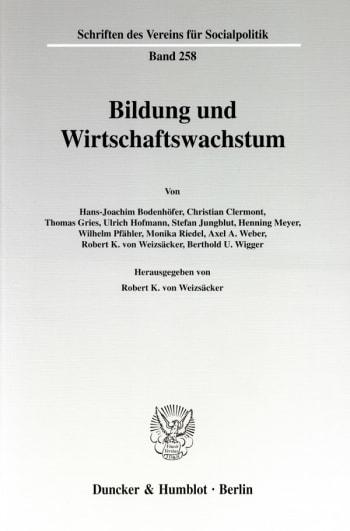 Cover: Bildung und Wirtschaftswachstum