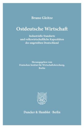 Cover: Ostdeutsche Wirtschaft