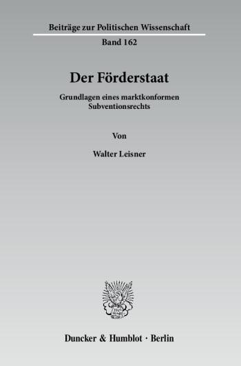Cover: Der Förderstaat