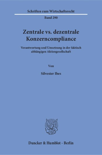Cover: Zentrale vs. dezentrale Konzerncompliance