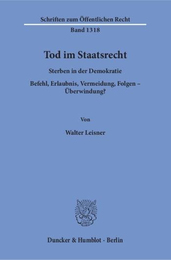 Cover: Tod im Staatsrecht
