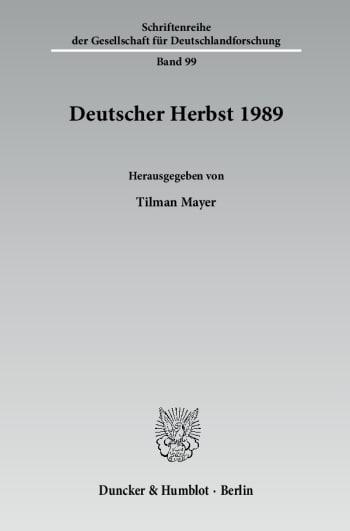 Cover: Deutscher Herbst 1989