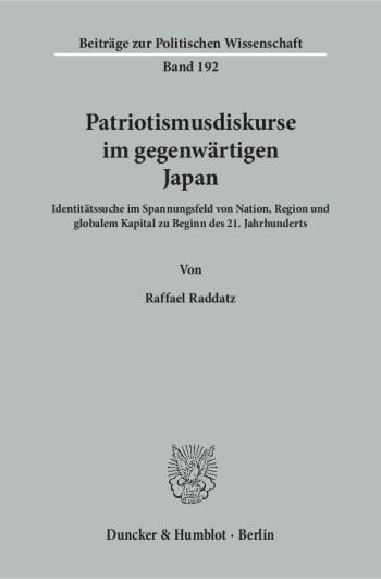 Cover: Patriotismusdiskurse im gegenwärtigen Japan
