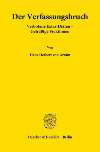 Cover: Der Verfassungsbruch