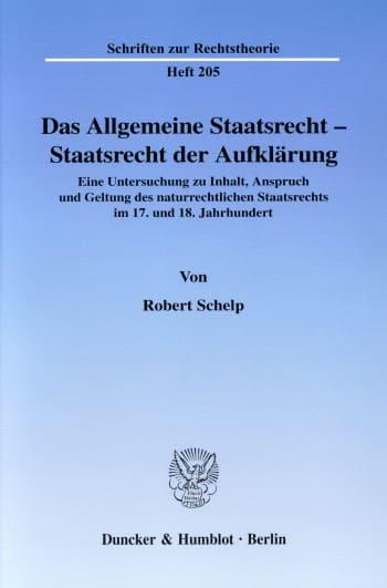 Cover: Das Allgemeine Staatsrecht - Staatsrecht der Aufklärung