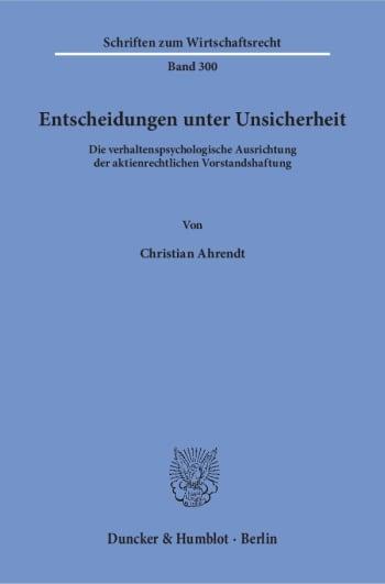 Cover: Entscheidungen unter Unsicherheit