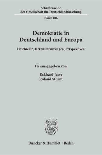 Cover: Demokratie in Deutschland und Europa