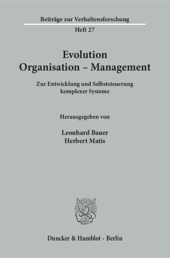 Cover: Evolution - Organisation - Management