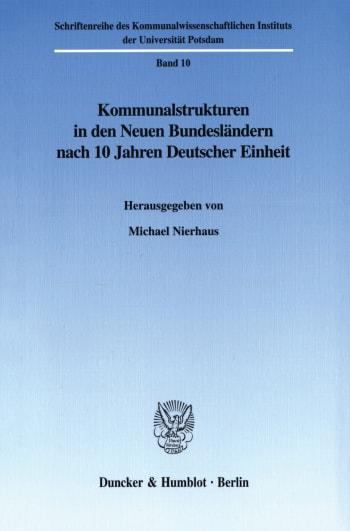 Cover: Schriftenreihe des Kommunalwissenschaftlichen Instituts der Universität Potsdam (KWIS)
