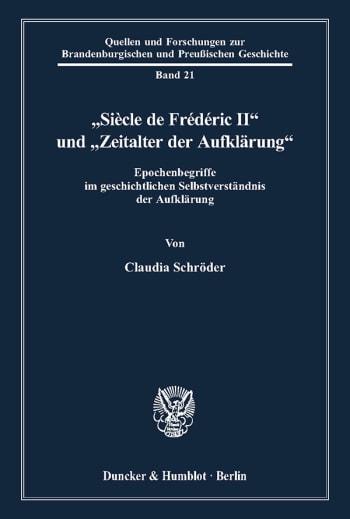 """Cover: """"Siècle de Frédéric II"""" und """"Zeitalter der Aufklärung"""""""
