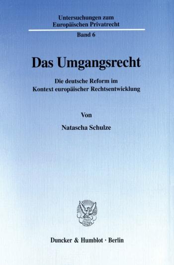Cover: Das Umgangsrecht