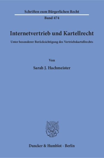 Cover: Internetvertrieb und Kartellrecht