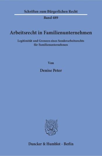 Cover: Arbeitsrecht in Familienunternehmen