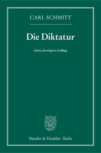 Cover: Die Diktatur