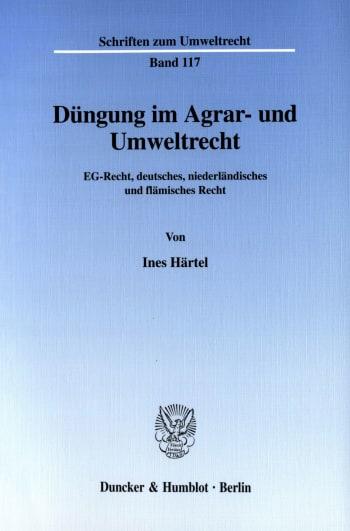 Cover: Düngung im Agrar- und Umweltrecht