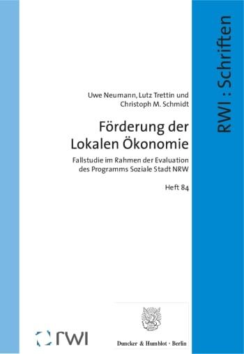 Cover: Schriften des Rheinisch-Westfälischen Instituts für Wirtschaftsforschung (RWI)