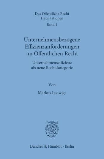 Cover: Unternehmensbezogene Effizienzanforderungen im Öffentlichen Recht