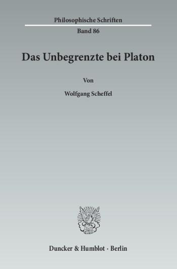 Cover: Das Unbegrenzte bei Platon