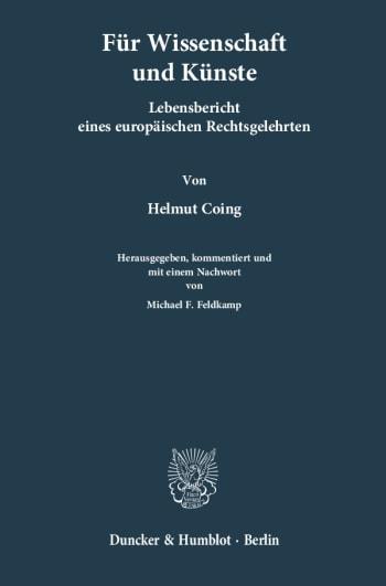 Cover: Für Wissenschaften und Künste