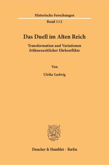 Cover: Das Duell im Alten Reich
