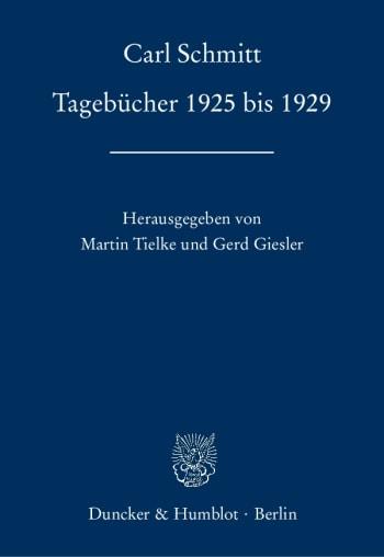 Cover: Tagebücher 1925 bis 1929