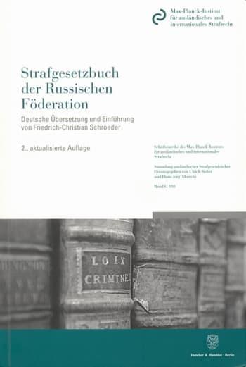 Cover: Strafgesetzbuch der Russischen Föderation