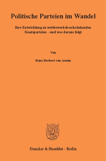 Cover: Politische Parteien im Wandel
