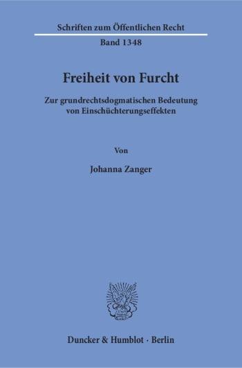 Cover: Freiheit von Furcht