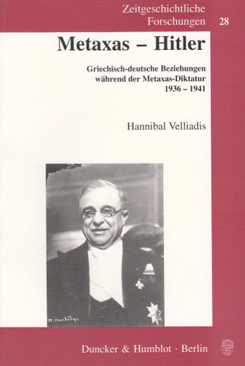 Cover: Metaxas - Hitler