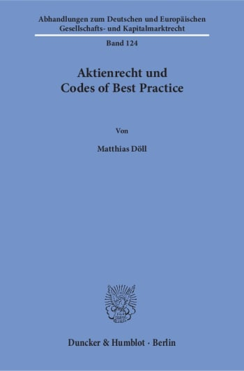 Cover: Aktienrecht und Codes of Best Practice